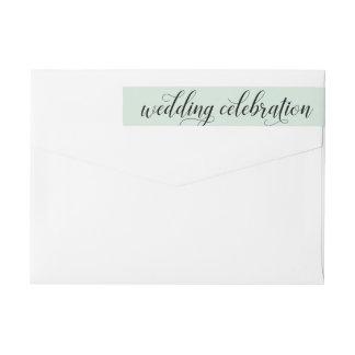 Wedding Celebration | Mint Green Wrap Around Label