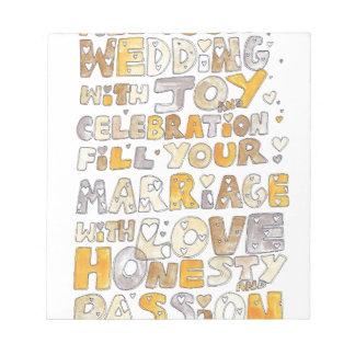 Wedding Celebration Notepads