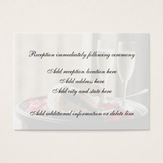 Wedding Celebration Reception Card