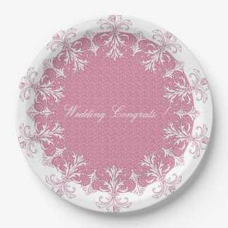 WEDDING-CELEBRATION'S-TEMPLATE-STYLISH-PLATE'S(c) Paper Plate