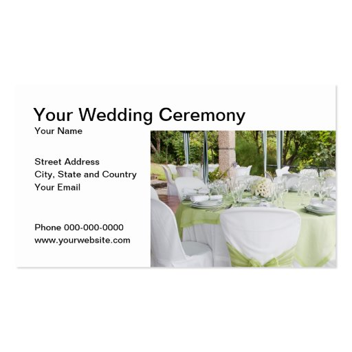 Wedding Ceremony Business Card Business Card Template