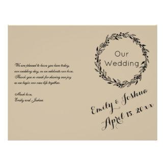 Wedding Ceremony Custom Template - Program Flyer
