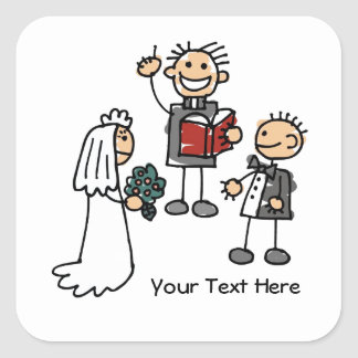 Wedding Ceremony (customizable) Square Sticker