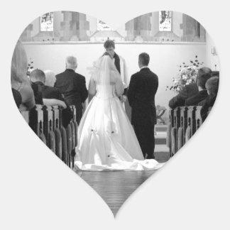 Wedding Ceremony Heart Sticker