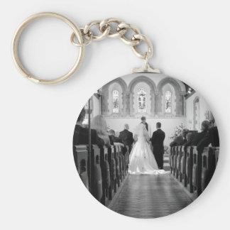 Wedding Ceremony Basic Round Button Keychain