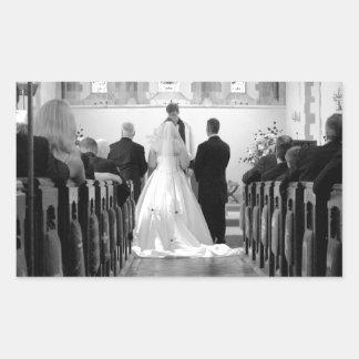 Wedding Ceremony Rectangular Sticker