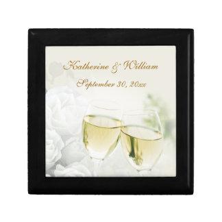 Wedding Champagne Roses Keepsake Box