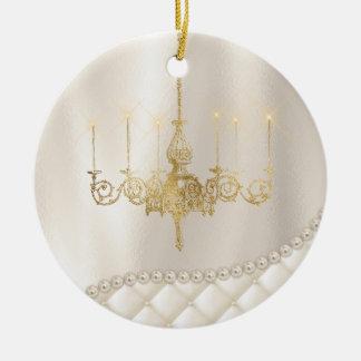 Wedding Chandelier Lighting Ivory Pearls Ornament