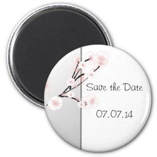 Wedding Cherry Blossoms Template Refrigerator Magnet