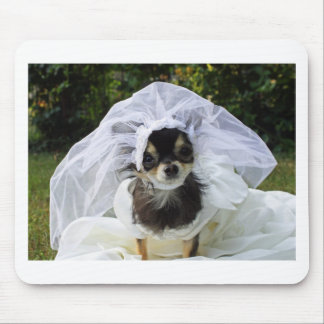 Wedding Chihuahua Bride Mouse Pad