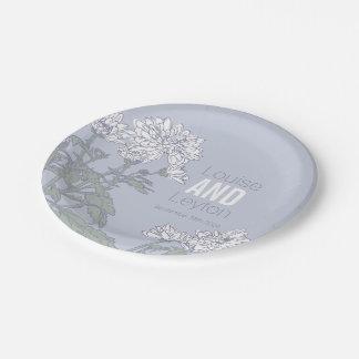 Wedding chrysanthemum white flower custom plates
