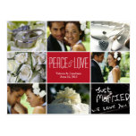 Wedding Collage Holiday Photo Card Postcard