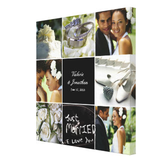 Wedding Collage Wrapped Canvas Stretched Canvas Print