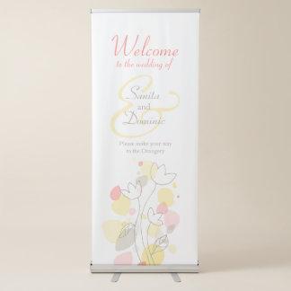 Wedding confetti welcome banner