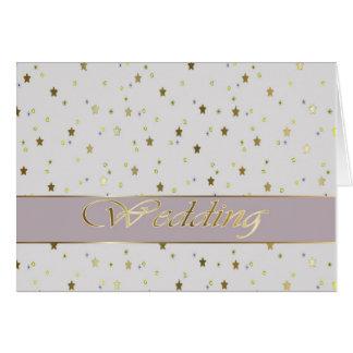 Wedding Congratulations Silver Gold Stars Card