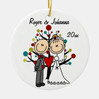Wedding Couple 1st Christmas Personalised Ornament