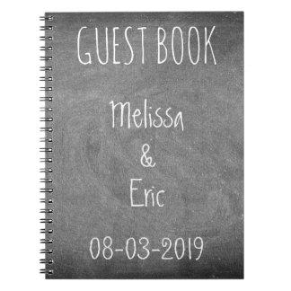 Wedding Couple Anniversary Guest Book Chalkboard Spiral Notebooks