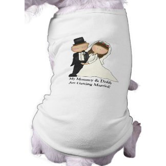 Wedding Couple customizable Dog T-shirt