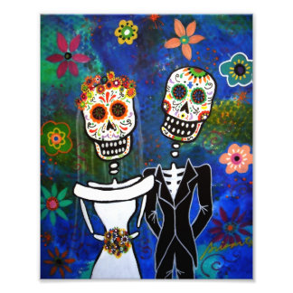 Wedding Couple Day of the Dead Painting Photo Print