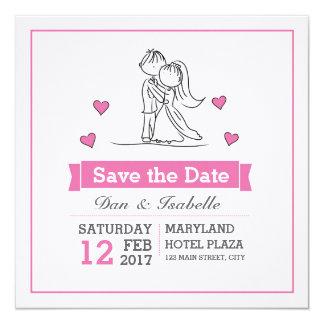 Wedding Couple Doodle Invitation Card