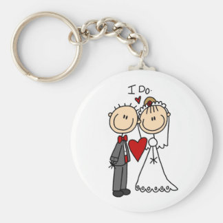 Wedding Couple I Do T-shirts and Gifts Basic Round Button Key Ring