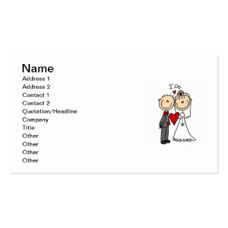 Wedding Couple I Do T-shirts and Gifts Pack Of Standard Business Cards