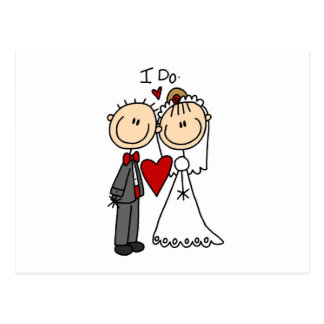 Wedding Couple I Do T-shirts and Gifts Postcard