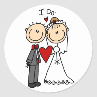 Wedding Couple I Do T-shirts and Gifts Round Sticker