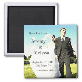 Wedding Couple In Field STD Magnet