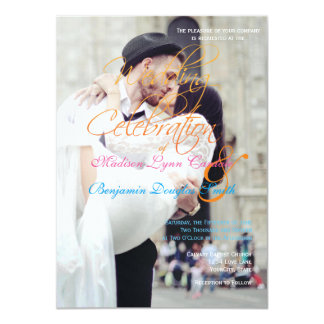 wedding couple kissing in street happiness 11 cm x 16 cm invitation card