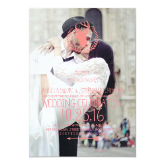 wedding couple kissing in street happiness 13 cm x 18 cm invitation card