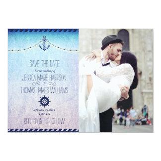 wedding couple kissing in street happiness/nautic 13 cm x 18 cm invitation card
