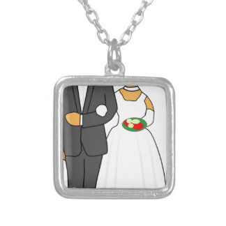 Wedding Couple Silver Plated Necklace