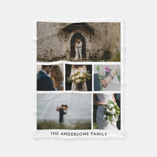 Wedding Couple Six Photos | Wedding Gift Fleece Blanket