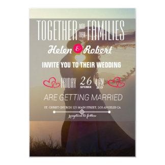 Wedding Couple Sunset Romance 13 Cm X 18 Cm Invitation Card