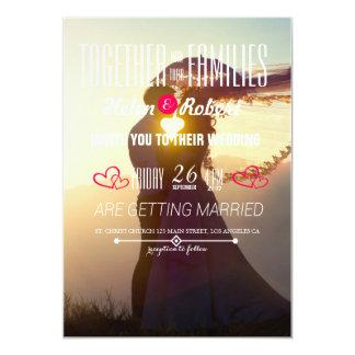 Wedding Couple Sunset Romance Card