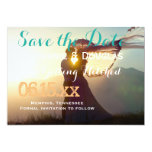 Wedding Couple Sunset Romance/Save The Date 13 Cm X 18 Cm Invitation Card