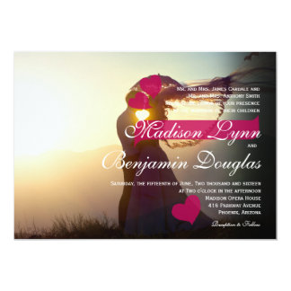 Wedding Couple Sunset Romance/Wedding Invitation