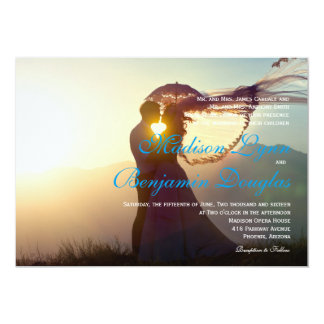 Wedding Couple Sunset Romance/Wedding Invitation