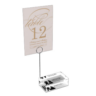 Wedding Couple Table Card Holder