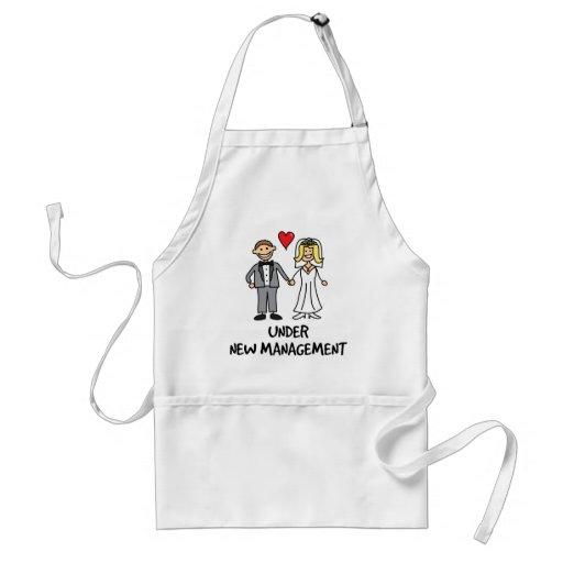 Wedding Couple - Under New Management Aprons