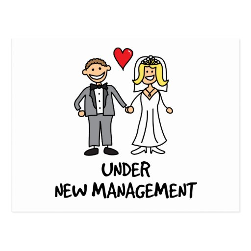 Wedding Couple - Under New Management Post Card
