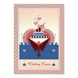 Wedding Cruise Heart Ship Invitation