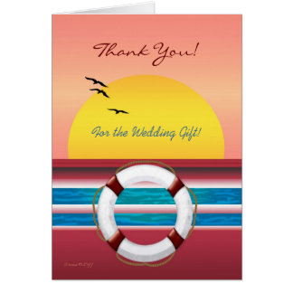 Wedding Cruise Thank you for gift - Sunset Card