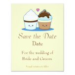 "Wedding Cupcakes 4.25"" X 5.5"" Invitation Card"