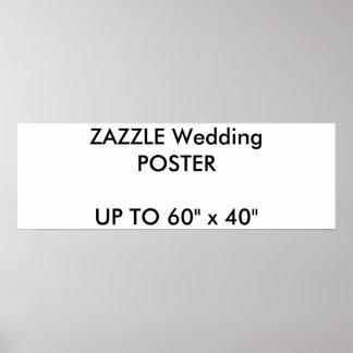 "Wedding Custom 36"" x 12"" Poster MATTE Landscape"