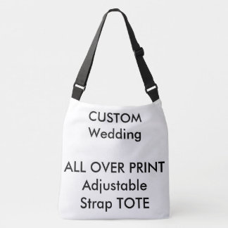 Wedding Custom ALL OVER PRINT Strap Tote LARGE Tote Bag