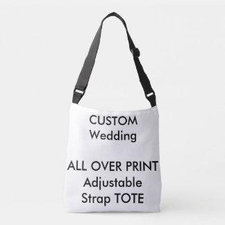 Wedding Custom ALL OVER PRINT Strap Tote MEDIUM Tote Bag