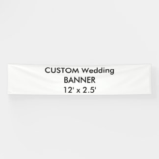 Wedding Custom Banner 12' x 2.5'