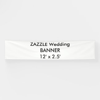 Wedding Custom Banner 12' x 2.5'